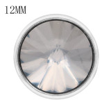 12MM snap Avec strass gris KS7045-S Snaps interchangeables bijoux