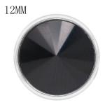 12MM snap With Black strass KS7044-S bijoux interchangeables