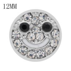 Smile12MM snap Weiße Strasssteine und schwarze Strasssteine KS7030-S austauschbarer Snaps-Schmuck