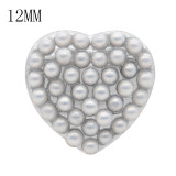 Love 12MM snap White pearl KS7047-S broches intercambiables joyería