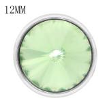12MM composant logiciel enfichable août pierre de naissance verte KS7038-S bijoux interchangeables