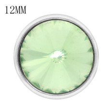 12MM snap Aug. birthstone green KS7038-S broches intercambiables joyería