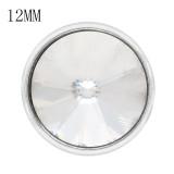 12MM snap avril naissance pierre blanche KS7034-S interchangeables s'enclenche bijoux