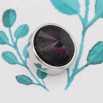 12MM Snap Februar Geburtsstein lila KS7032-S austauschbare Snaps Schmuck