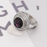 12MM snap février pierre de naissance violet KS7032-S snaps interchangeables bijoux