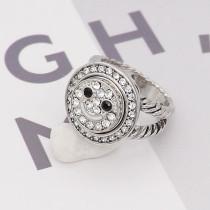 Smile12MM snap White rhinestones and black rhinestones  KS7030-S interchangable snaps jewelry