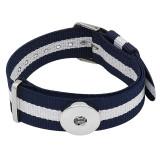 1-Knöpfe Weißblau KC0888-Uhrenarmbänder passen zu 20MM-Druckknöpfen