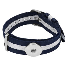 1 buttons White blue KC0888 Watch bracelets fit 20MM snaps chunks