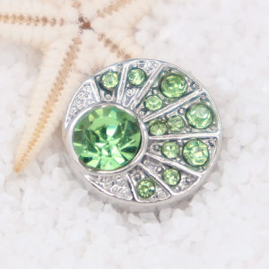 12MM snap With Green Rhinestone KS7050-S interchangable snaps jewelry