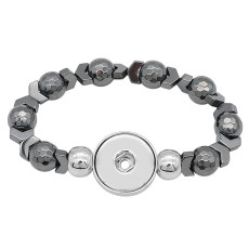 1 buttons With  Adjustable snap Natural stone  bracelet fit snaps jewelry KC0891