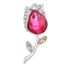 20MM design Rose snap avec strass rose-rouge KC6987 snaps bijoux