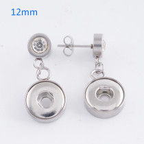 Fit 12mm Snaps Stainless steel Earrings fit snaps chunks KS0944-S