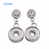 Fit 12mm Snaps Pendientes de acero inoxidable en forma de broches KS0944-S