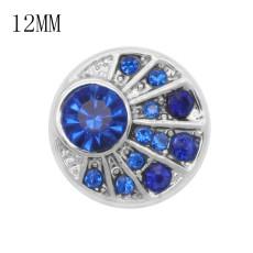 12MM дизайн металлическая застежка павлина с синим стразами KS7059-S оснастки ювелирные изделия
