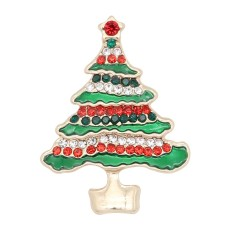 Christmas 20MM design Christmas tree with rhinestone enamel KC8034 snaps jewelry