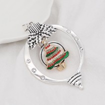 Christmas lantern snap sliver Pendant   fit 20MM snaps style jewelry KC0466