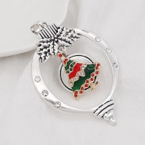 Christmas 20MM design Christmas tree with rhinestone enamel KC8033 snaps jewelry