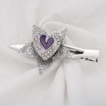Love 20MM snap Silver Plated with Purple emamel KC9138 snaps jewelry