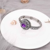 20MM  snap Silver Plated with purple rhinestone KC9152 snaps jewelry