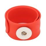 Kreative rot papa kreis silikagel heißer verkauf trendy druckknopf armband armreifen fit xnumxmm snap schmuck spaß geschenk