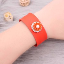 20MM rose-gold plated design Orange Flower snap with pearl KC8039 snaps jewelry