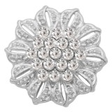 20MM  snap Silver Plated with white rhinestone KC9160 snaps jewelry