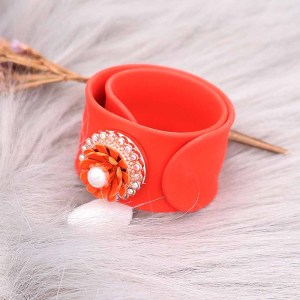 Creative red papa circle Silica gel Hot Sale Trendy Snap Button Bracelet Bangles fit 20MM Snap Jewelry fun gift