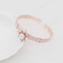 12MM design rose gold snap with colorful rhinestone and pearl KS7079-S snaps jewelry