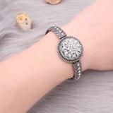 bracelet en métal avec des strass blancs ajustement 18 & 20MM snaps chunks boutons 1 snaps bijoux KC0893