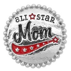 20MM all star Mother snap Joyas KC8045 chapadas en plata a presión