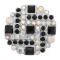 20MM  snap Silver Plated with black rhinestone KC8063 snaps jewelry