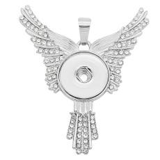 Кулон «Орел крылья» с белыми стразами. Подходит для украшения 20MM в стиле KC0469.