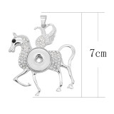Colgante de astilla de caballo Colgante con diamantes de imitación blancos para joyería 20MM estilo broches KC0470
