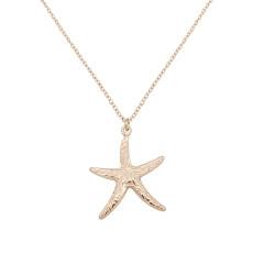 Étoile de mer étoile de mer de style océan en métal doré TA3109 46CM nouveau type collier mode bijoux