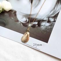 Big Shell Ocean-style métal doré TA3112 46CM nouveau type Collier mode Bijoux