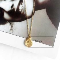 Conque Ocean-style métal doré TA3105 46CM nouveau type Collier mode Bijoux