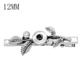 hairpin snap sliver Pendant   fit 12MM snaps style jewelry KS0374-S