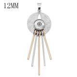 snap sliver Pendentif fit 12MM s'enclenche bijoux de style KS0379-S