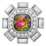 charms 20MM design snap argenté avec strass opale KC9214 snaps bijoux multicolore