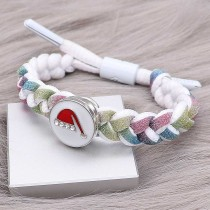1 buttons Colorful Rope  KC0514 new type Bracelet fit 20mm snaps chunks