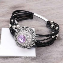 20MM design snap charms Silver Plated with purple rhinestone  KC9205 snaps jewelry
