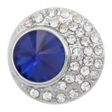 20MM design snap charms Plaqué argent avec strass bleu KC9206 s'encliquette bijoux