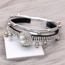 20MM design snap charms Silver Plated with White rhinestone  KC9204 snaps jewelry