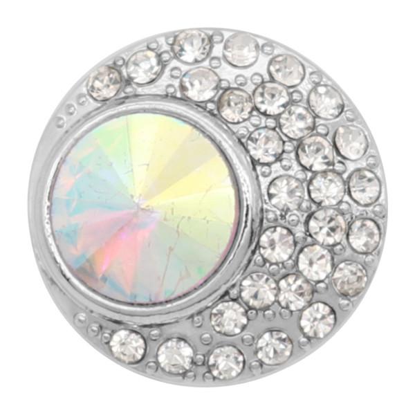20MM design snap charms plaqué argent avec strass blanc KC9204 snaps bijoux