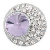 20MM design snap charms Argent Plaqué avec strass violet KC9205 s'encliquette bijoux