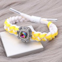 1 buttons Yellow Rope  KC0510  new type Bracelet fit 20mm snaps chunks