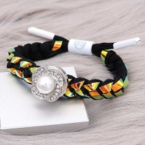 1 buttons Colorful Rope  KC0508 new type Bracelet fit 20mm snaps chunks