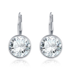 Crystal Environmental Alloy Silver-plated  Fashion Gift for Female Delicate Earrings