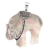 Colgante de collar sin cadena con concha y diamantes de imitación de joyería de moda