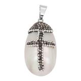 Pendentif de collier sans chaîne avec coquille et strass bijoux de mode